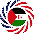 Sahrawi Arab Democratic Republic American Multinational Patriot Flag Series by Carbon-Fibre Media