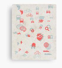 Urban mobility symbols Canvas Print