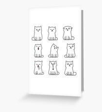 Nine cute white kittens Greeting Card