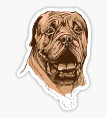 portrait of boxer dog in color and black and white Sticker