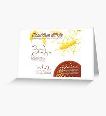 Clostridium difficile Greeting Card