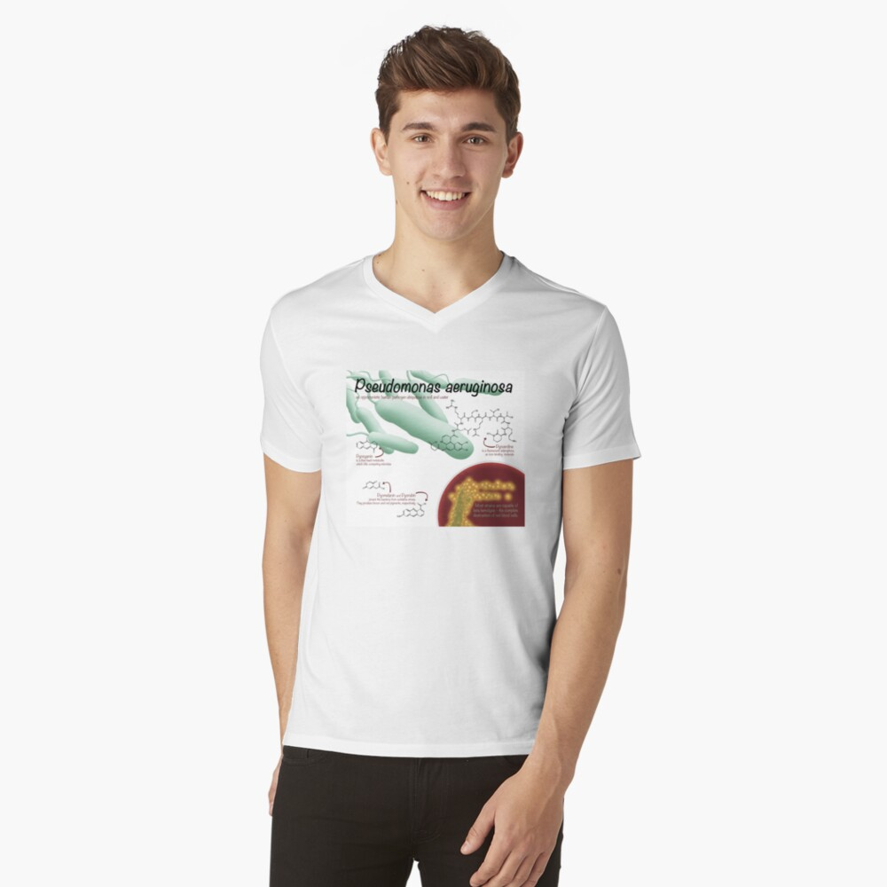 Pseudomonas aeruginosa Men's V-Neck T-Shirt Front