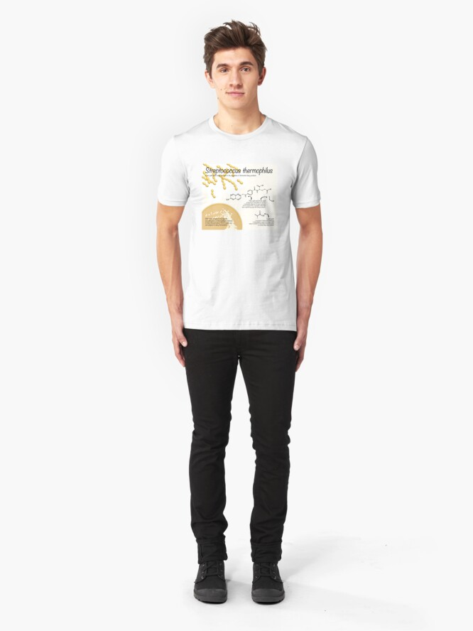 Alternate view of Streptococcus thermophilus Slim Fit T-Shirt