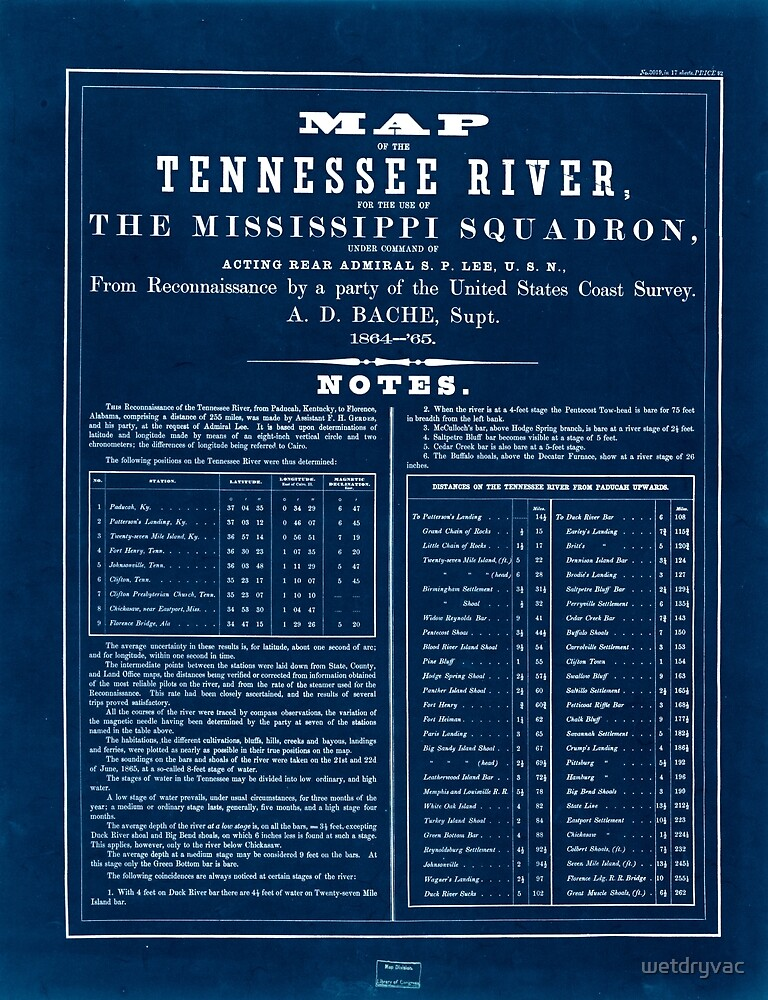 Civil War Maps 0993 Map of the Tennessee River for the use of the Mississippi Squadron Inverted by wetdryvac