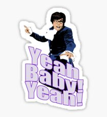 Austin Powers Yeah Baby Yeah T-shirt Sticker