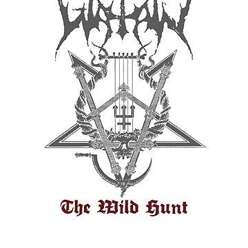 Watain - The Wild Hunt - Band White Logo by michaelhavart