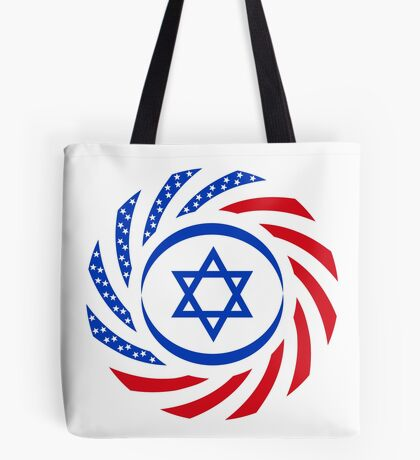 Israeli American Multinational Patriot Flag  Tote Bag