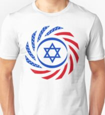 Israeli American Multinational Patriot Flag 1.0 Unisex T-Shirt