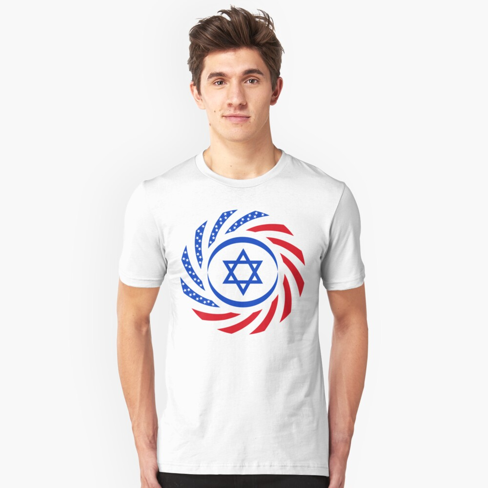 Israeli American Multinational Patriot Flag 1.0 Unisex T-Shirt Front