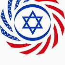 Israeli American Multinational Patriot Flag 1.0 by Carbon-Fibre Media