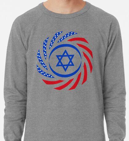 Israeli American Multinational Patriot Flag  Lightweight Sweatshirt