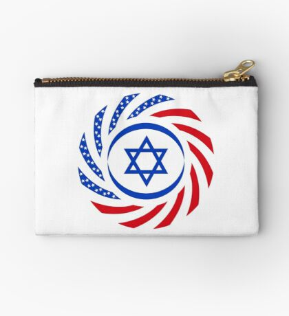 Israeli American Multinational Patriot Flag  Zipper Pouch