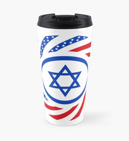 Israeli American Multinational Patriot Flag  Travel Mug