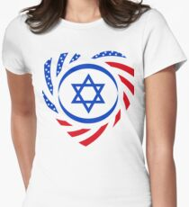 Israeli American Multinational Patriot Flag 2.0 Women's Fitted T-Shirt