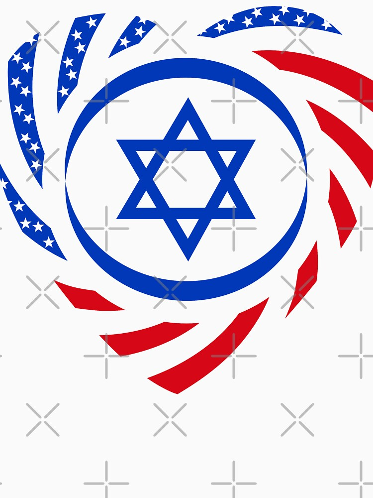 Israeli American Multinational Patriot Flag (Heart) by carbonfibreme