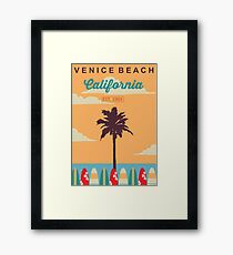 Venice Beach - California.  Framed Print