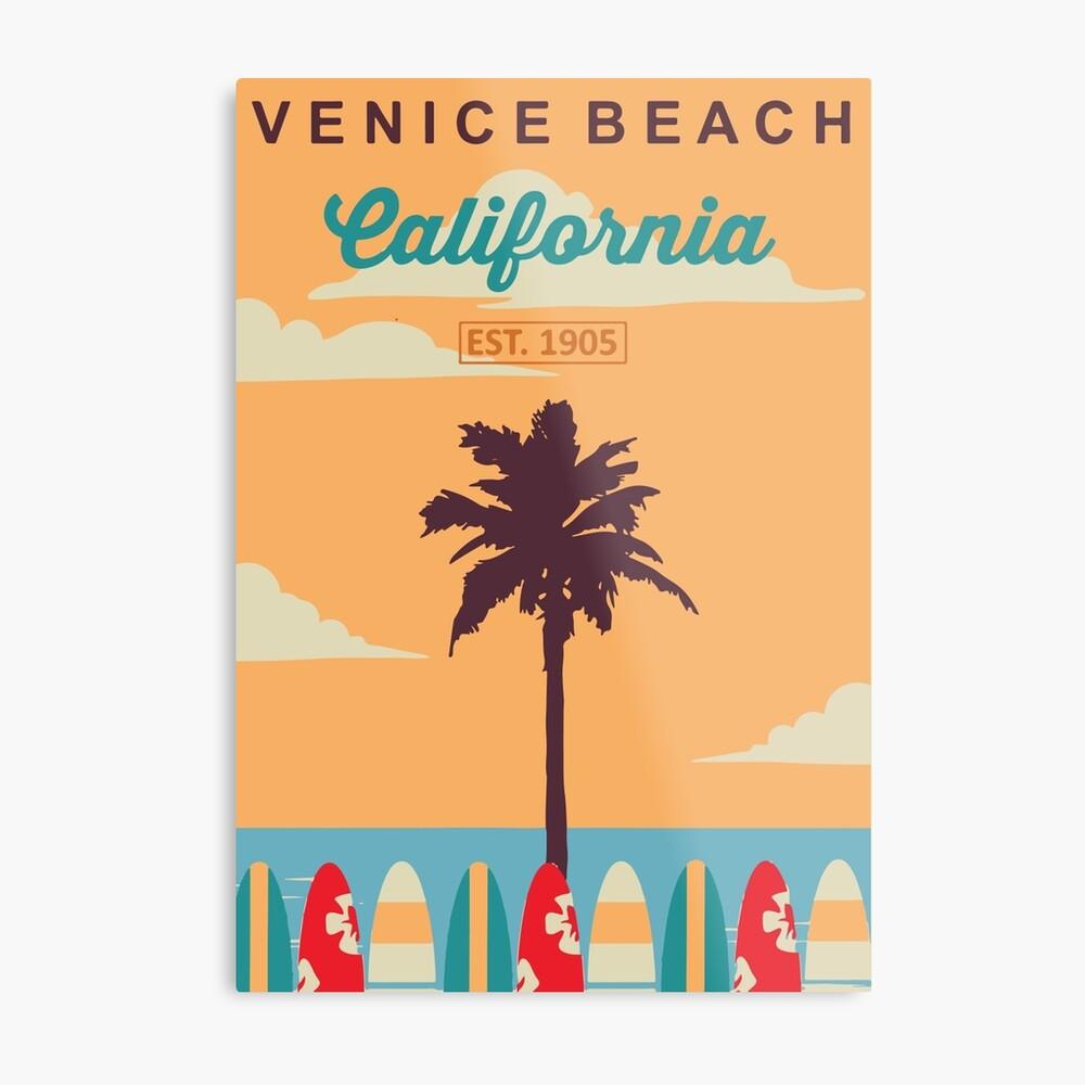 Venice Beach - Kalifornien. Metallbild