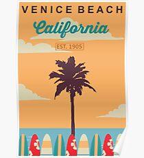 Venice Beach - California.  Poster