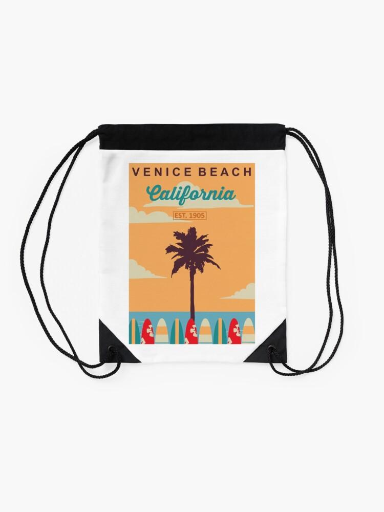 Alternative Ansicht von Venice Beach - Kalifornien. Turnbeutel