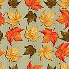 Colorful Fall Leafs Pattern by artonwear