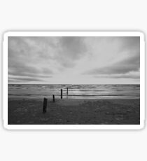 Sunset on Sauble Beach - Black and White Sticker