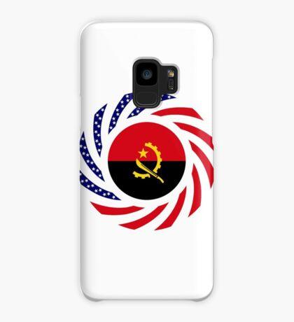 Angolan American Multinational Patriot Flag Case/Skin for Samsung Galaxy