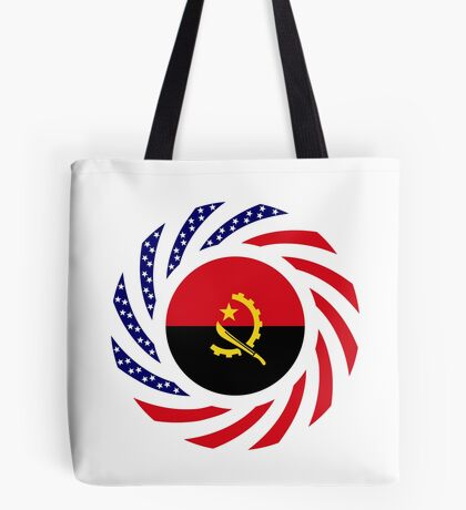 Angolan American Multinational Patriot Flag Tote Bag