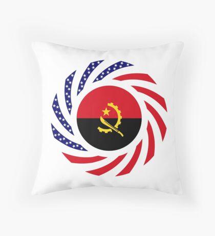 Angolan American Multinational Patriot Flag Throw Pillow