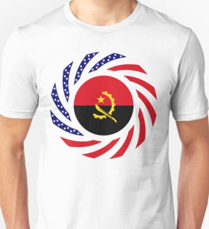 Angolan American Multinational Patriot Flag T-Shirt