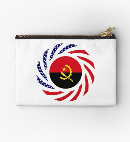 Angolan American Multinational Patriot Flag Zipper Pouch
