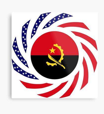 Angolan American Multinational Patriot Flag Metal Print