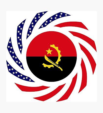 Angolan American Multinational Patriot Flag Photographic Print