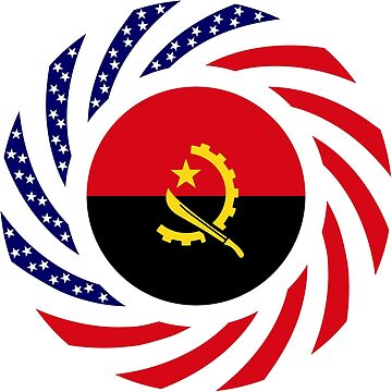 Angolan American Multinational Patriot Flag by carbonfibreme
