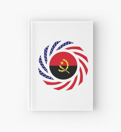 Angolan American Multinational Patriot Flag Hardcover Journal