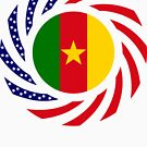 Cameroon American Multinational Patriot Flag Series 1.0 by Carbon-Fibre Media