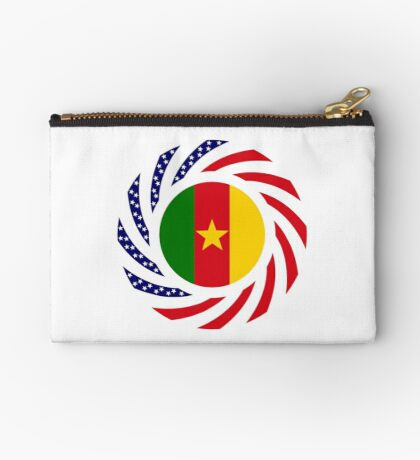 Cameroon American Multinational Patriot Flag Series 1.0 Zipper Pouch