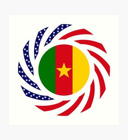 Cameroon American Multinational Patriot Flag Series 1.0 Art Print