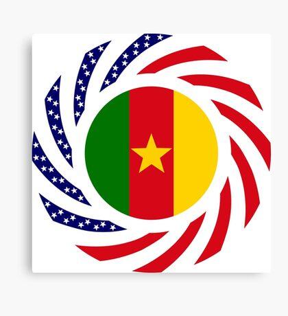 Cameroon American Multinational Patriot Flag Series 1.0 Canvas Print
