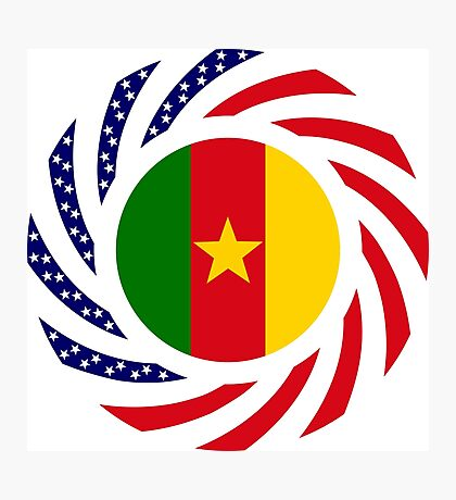 Cameroon American Multinational Patriot Flag Series 1.0 Photographic Print