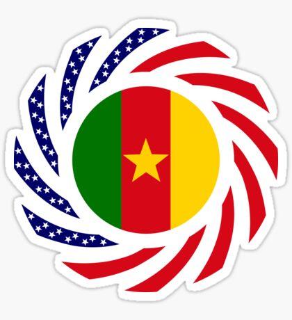 Cameroon American Multinational Patriot Flag Series 1.0 Sticker