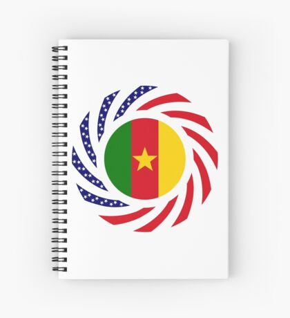 Cameroon American Multinational Patriot Flag Series 1.0 Spiral Notebook