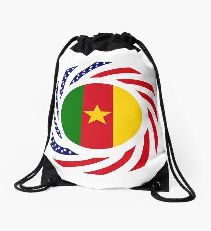 Cameroon American Multinational Patriot Flag Series 1.0 Drawstring Bag