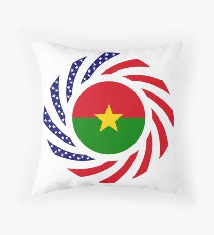 Burkina Faso American Multinational Patriot Flag 1.0 Throw Pillow