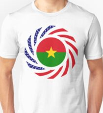 Burkina Faso American Multinational Patriot Flag 1.0 Slim Fit T-Shirt