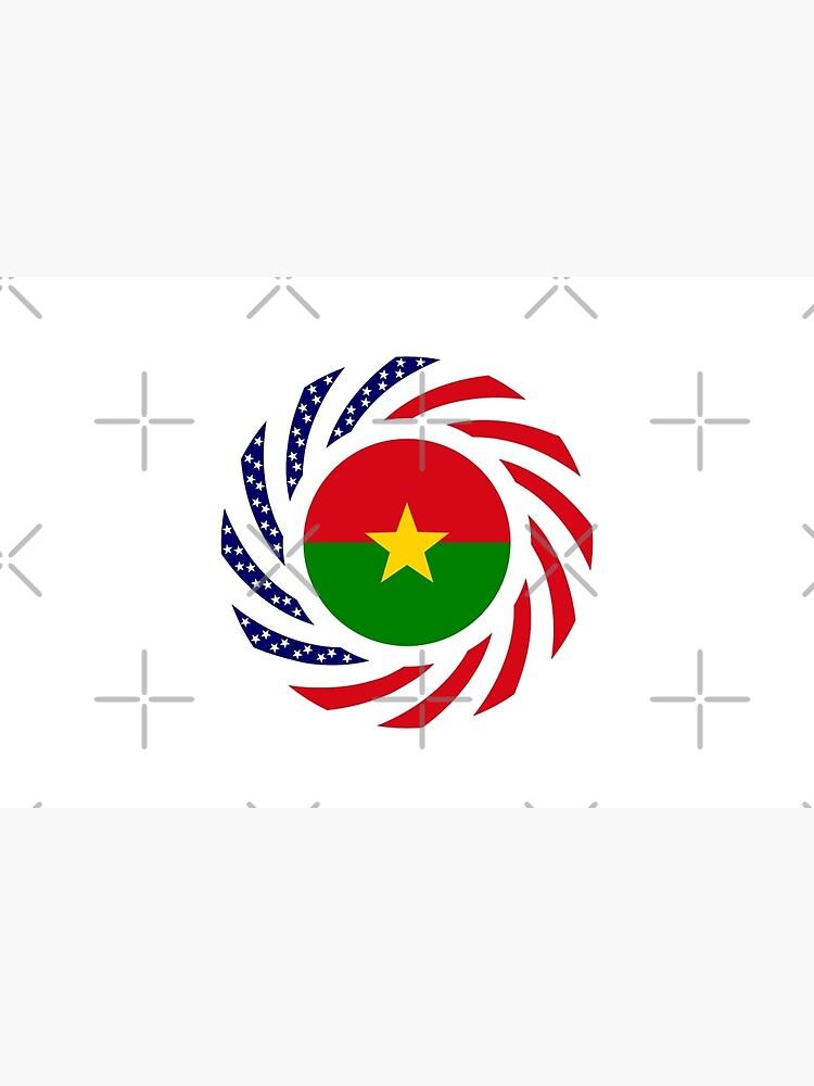 Burkina Faso American Multinational Patriot Flag 1.0 by carbonfibreme