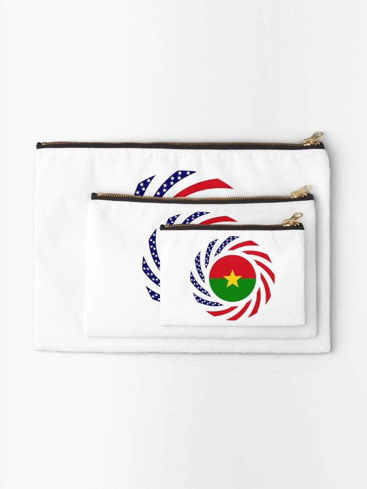 Alternate view of Burkina Faso American Multinational Patriot Flag 1.0 Zipper Pouch