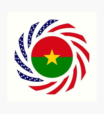 Burkina Faso American Multinational Patriot Flag 1.0 Art Print