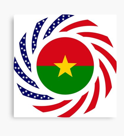 Burkina Faso American Multinational Patriot Flag 1.0 Canvas Print