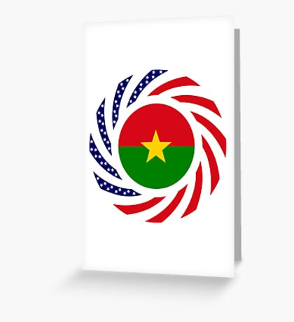 Burkina Faso American Multinational Patriot Flag 1.0 Greeting Card