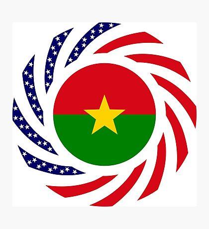 Burkina Faso American Multinational Patriot Flag 1.0 Photographic Print